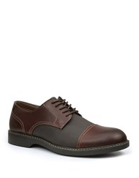 Bass Perkins Leather Cap Toe Brogue Oxfords Brown Black