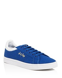 Fred Perry Sidespin Canvas Lace Up Sneakers Royal