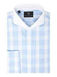 Chester Barrie L S Contemp Henry Dandy Check Shirt D C Sky