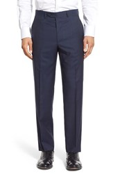 Men's Santorelli Flat Front Plaid Wool Trousers