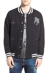 Men's Prps 'Bootes' Knit Baseball Jacket With Leather Trim