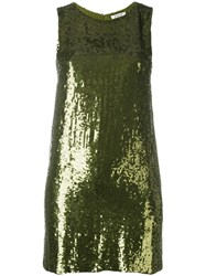 P.A.R.O.S.H. Sequin Embellished Dress Green
