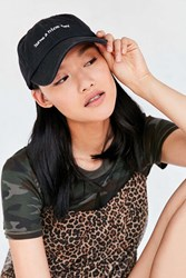 Urban Outfitters Verbiage Baseball Hat Black
