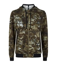 Versus By Versace Lion Camo Hoodie Male Green