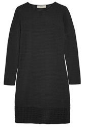 Pringle Jacquard Knit Wool Blend Dress Black