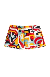 Dsquared Printed Silk Shorts