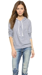 Stateside Pleated Front Hoodie Heather Grey