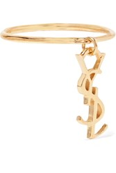 Saint Laurent Gold Plated Ring