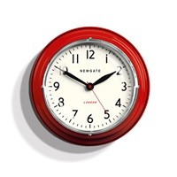 Newgate Clocks The Mini Cookhouse Clock Red