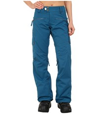 686 Authentic Mistress Insulated Pants Lagoon Diamond Dobby Women's Casual Pants Blue