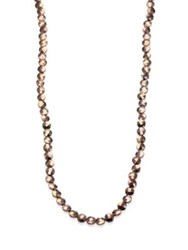 Brunello Cucinelli Long Ematite Necklace Brown