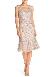 Women's Adrianna Papell Sequin Mesh Fit And Flare Dress