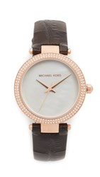Michael Kors Mini Parker Watch Rose Gold Black