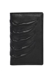 Alexander Mcqueen Rib Cage Folded Leather Card Holder