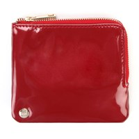 Mi Pac Gold Patent Coin Holder Red