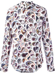 Paul Smith Ps By Abstract Print Shirt White
