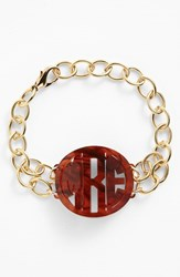 Women's Moon And Lola 'Annabel' Medium Personalized Monogram Bracelet Tortoise Gold