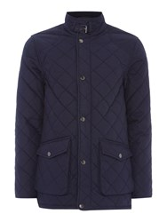 Howick Men's The Pembroke Waxed Cotton Quilted Jacket Navy