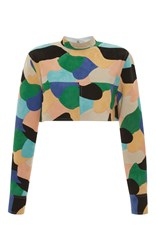 Marni Multicolor Cropped Jacket Black