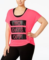 Material Girl Active Plus Size Be Flawless Graphic Top Only At Macy's Flashmode