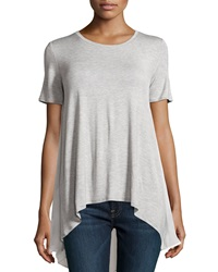 Philosophy Chiffon Back Short Sleeve Tee Heather Gray
