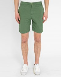 M.Studio Khaki Paul Fitted Cotton Shorts