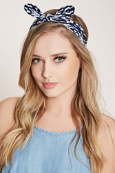 Forever 21 Abstract Print Bow Headwrap