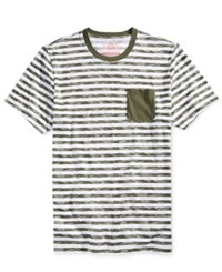 American Rag Men's Digi Stripe Pocket T Shirt Only At Macy's Bright White