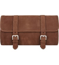 Brunello Cucinelli Grained Leather Cosmetic Bag Brown
