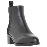 Dune Pony Pointed Toe Chelsea Boots Black Leather
