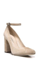 Women's Via Spiga 'Selita' Ankle Strap Pump Light Camel Suede