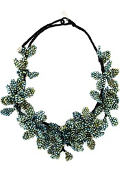 Night Market Beaded Flower Necklace