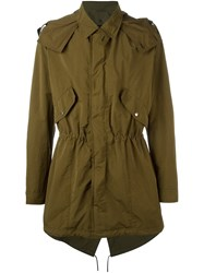 Christian Dior Homme Gathered Military Jacket Green