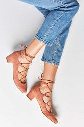 Urban Outfitters Milla Lace Up Heel Rose