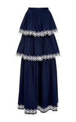 Alexis Kali Tiered Maxi Skirt Navy