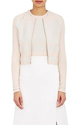 Narciso Rodriguez Women's Mixed Stitch Cardigan Peach Ivory No Color