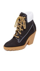 Maison Martin Margiela Suede And Leather Booties Black