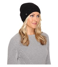 Ugg Cable Oversized Beanie Black Multi Cold Weather Hats