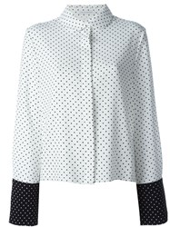 J.W.Anderson J.W. Anderson Oversized Polka Dot Shirt White
