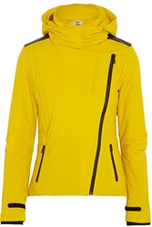 Fendi Hooded Twill Ski Jacket Yellow