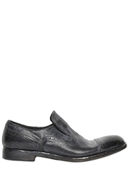 Alberto Fasciani Washed And Polished Leather Loafers Black