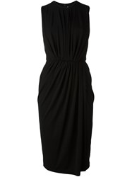 Givenchy Ruched Front Shift Dress Black