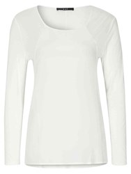 Oui Long Sleeve Jersey Top Off White