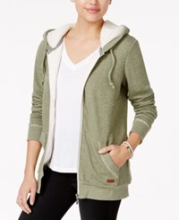 Roxy Juniors' Beauty Stardust Fleece Lined Hoodie Dark Green
