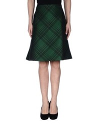 Jil Sander Navy Knee Length Skirts Emerald Green