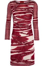 Missoni Appliqued Knitted Mini Dress Red