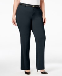 Charter Club Plus Size Tummy Control Trousers Only At Macy's Deepest Navy