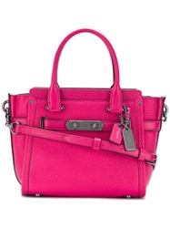 Coach 'Swagger 21' Tote Pink Purple