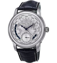 Frederique Constant Fc718wm4h6 Classics Manufacture Stainless Steel And Leather Watch Silver