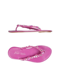 Ernesto Esposito Thong Sandals Pink